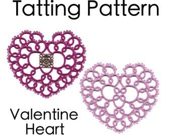 PDF Tatting Pattern: Valentine Heart