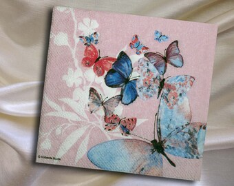 Decoupage Napkins Butterflies- size 13x 13 cm (5.12 x 5.12 in) (no.8)