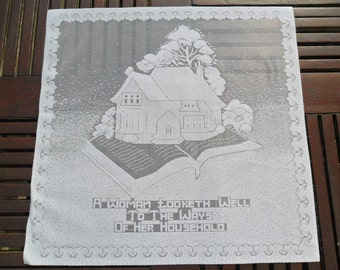 """The Salvation Army Home League Women's Group Lace Panel, 16"""" x 16"""" (40x40cm) Produced in Nottingham, England"""