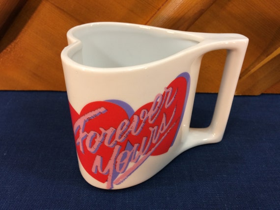 Avon Heart Shaped Coffee Mug Cup Forever Yours By