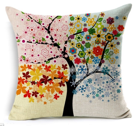 Nature 4 Seasons Cushion Cover Pillow New Case Cotton by  : il570xN729423665f05h from www.etsy.com size 570 x 523 jpeg 111kB