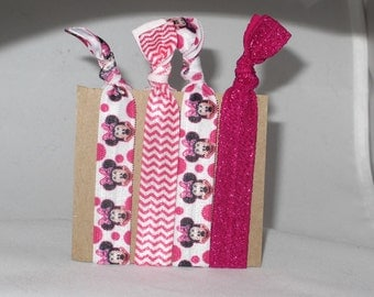 Set of 4 MOUSE hair ties