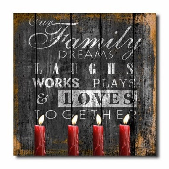 Family canvas wall art quotes Home decor by ShopMolliesMarket