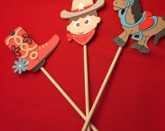 western centerpiece cowboy boot horse and cowboy table centerpiece with western design table - Western Party Decorations