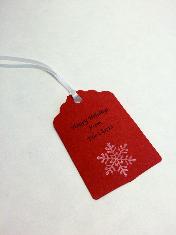 Personalized Holiday Gift Tag Christmas Gift Tag Hang Tag 9