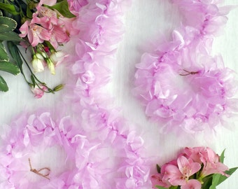 Pretty Pink Organza Garland Perfect for Weddings, Parities or Your Home