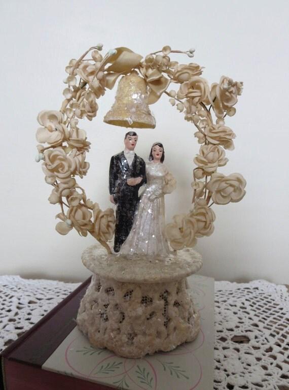 Chalkware Wedding Cake Topper