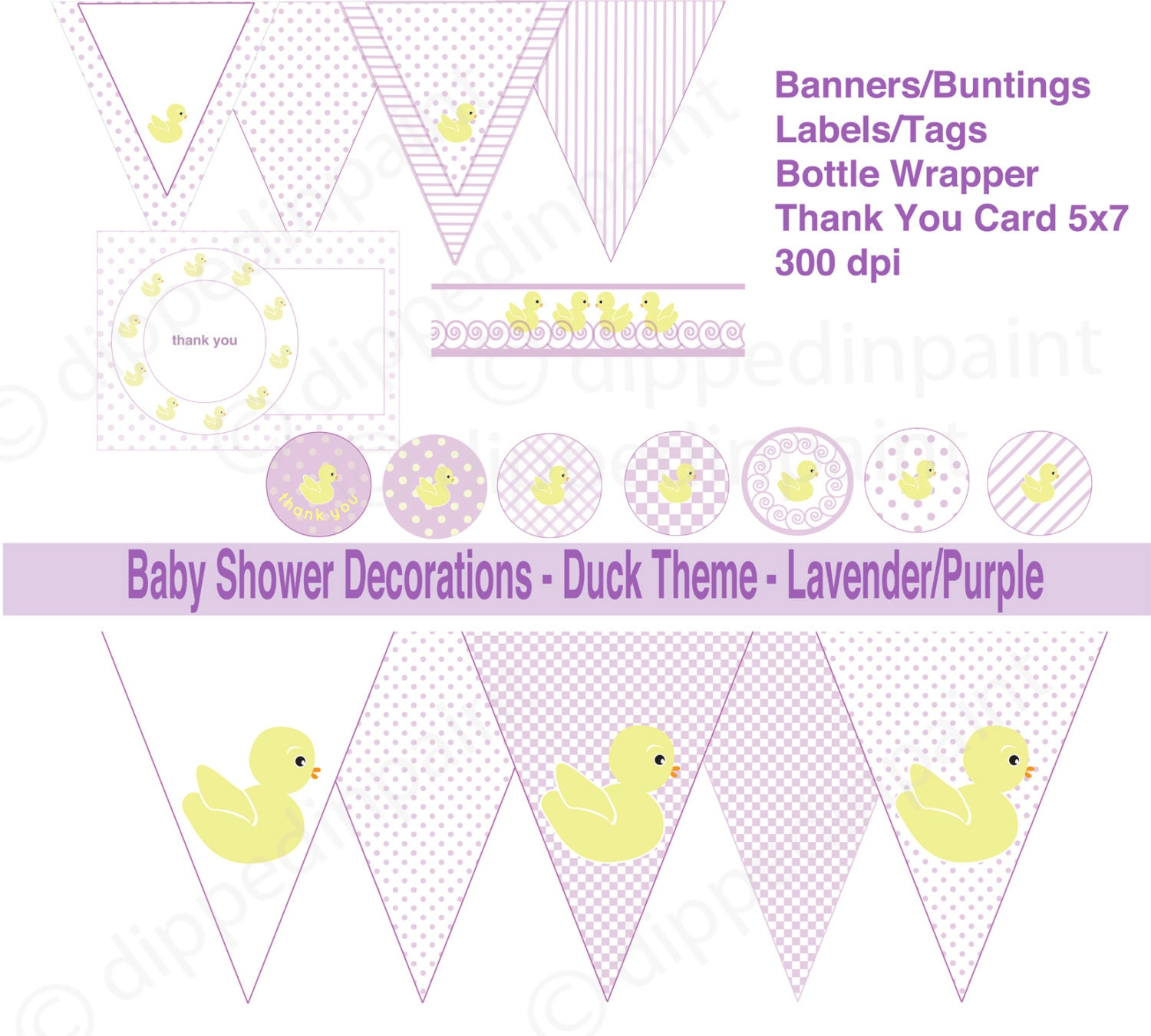 baby shower duck lavender decorations toddler by dippedinpaint