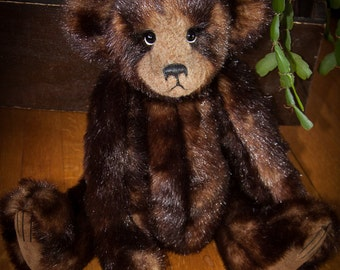 "Ralphie, 18"" OOAK Faux Fur Artist Bear by Patricia Bruce Bears"