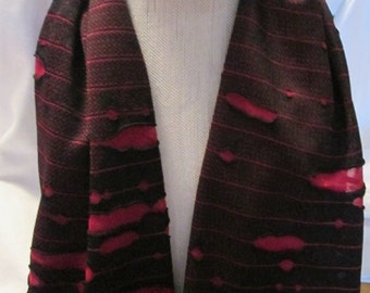 Infinity Scarf/Loop Scarf/ Women/Older child/ Handmade/scarf/Red and Black/Mother's day gift/Gift