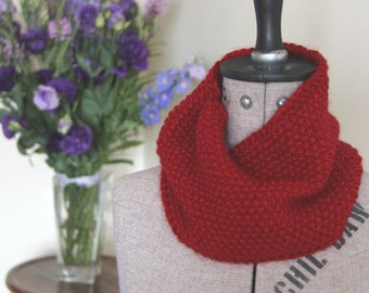 "Super Soft Red Cowl, Red Scarf, Infinity Scarf: ""I Love Roses"" Cowl"