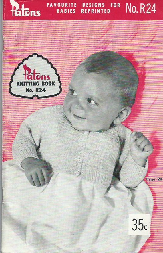 Baby Favourites Patons Knitting Book No.R24