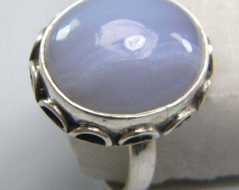 stone ring, Lace Agate stone ring, gem stone ring, silver plated ring, Lace Agate ring,  ring-0314140002