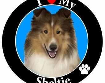 Sheltie Gifts, I Love My Sheltie Car Magnet, Car Magnet