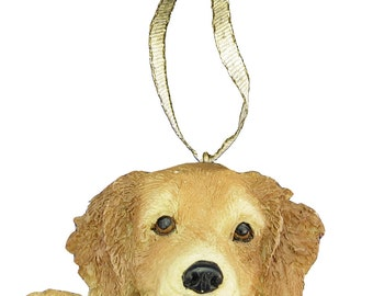 Golden Retreiver Ornament With Personalized Name Plate A Great Gift For  Retreiver Lovers