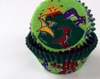 32 Dinosaur Baking Cups