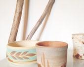 Southwestern Style Pottery Cactus Pot Small Ceramic Cactus or Succulent Planter Excellent Vintage Condition