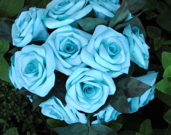 Paper Roses Wedding Bouquet - Blue Rose Flowers - Bridal Bouquet - Handmade Paper Roses - Rose Bridal Bouquet - Paper Flowers - Rose Bouquet