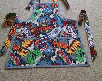 Boys Marvel Comics Apron Boys Super Hero Apron