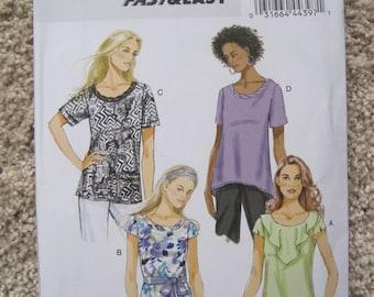 UNCUT Misses Top - Size Large, XLarge, XXLarge - Butterick Sewing Pattern B5754