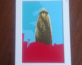 The Gherkin digital print