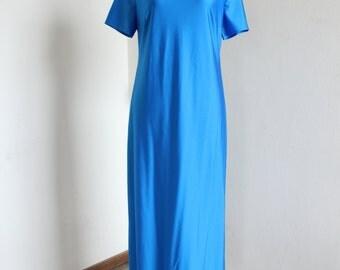 Light blue maxi dress 80's Size XL