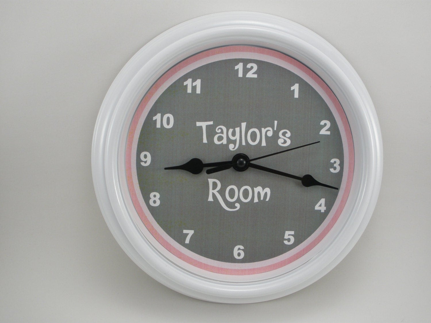 personalized custom wall clock. Black Bedroom Furniture Sets. Home Design Ideas
