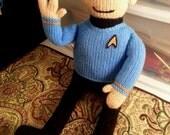 2ft Spock (Star Trek) Knit Plush Doll Amigurumi