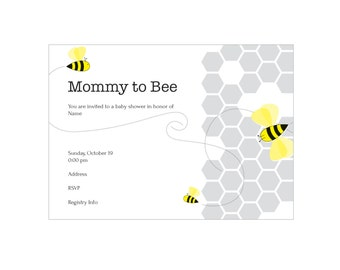 Mommy-To-Bee Baby Shower Invites