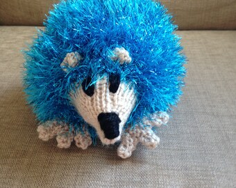 Hedgehog Xmas Hand Knitted toy