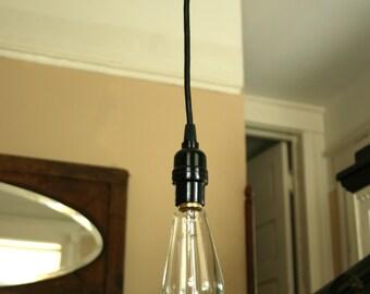 Industrial BB (Basic Black) pendant light.