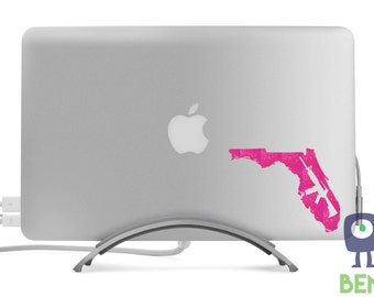 Florida AR Style Rifle Decal for Truck, Car, Laptop, MacBook, or Anything - Sparkle Colors