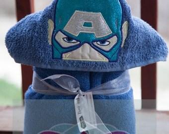 Captain America Avengers Towel Hooded Child's Boys Girls Movie Inspired