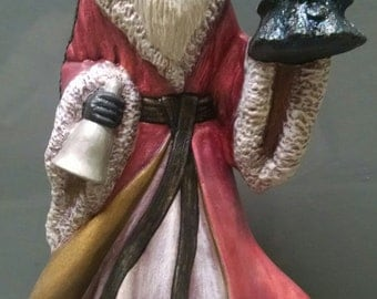 SALE!!!Old World Santa -- Heirloom-quality handpainted ceramic Santa -- Christmas mantel decor