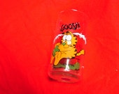 GARFIELD GOOSH Clear Drinking Glass 1978 6""