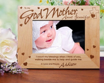 Godparent(s) Engraved Wood Frame- 3 designs