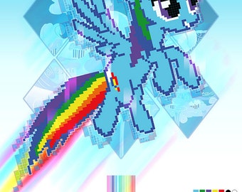 My Little Pony - Rainbow Pixel Dash