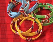 Traditional Maasai Masai bracelet colourful fun small bead beaded gift present authentic handmade fair trade reclaimed jewelry jewellery