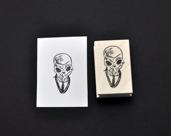 Doctor Who Silence Rubber Stamp, Hand carved Doctor Who Silence Stamp
