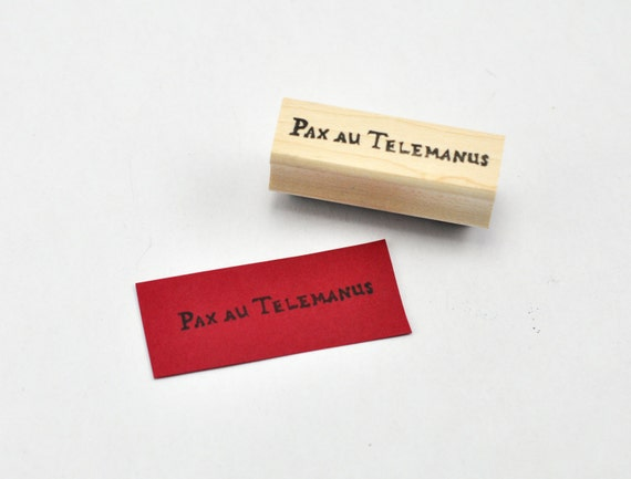 Pax au Telemanus Rubber Stamp, Hand carved Red Rising Inspired Stamp