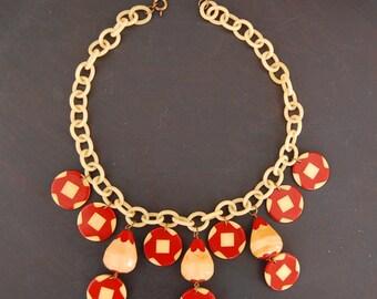 SALE! New Price!  Vintage Art Deco Bakelite/Celluloid Necklace