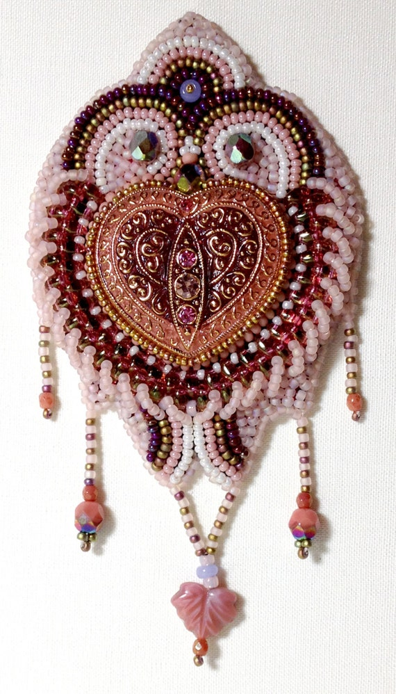 Items similar to bead embroidery kit be still my heart