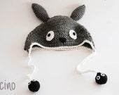 Totoro crochet hat