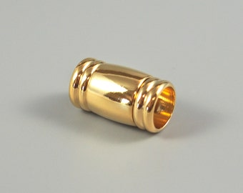 Magnetic Barrel Clasp,  8mm ID, 18TK Gold Plated