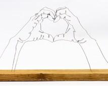 how to make a 3d hand sculpture