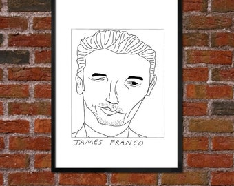 Badly Drawn James Franco - Poster