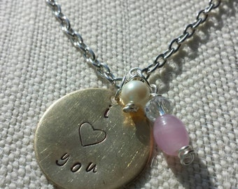 Valentine's Day, I Love You Necklace
