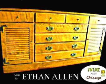 Ethan Allen Baumritter Crp 9 Drawer Solid Maple Dresser