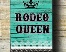 Rodeo Queen iPhone Case, Teal iPhone 5 Case, Teal iPhone 6 Plus Case, Monogram iPhone Case