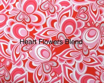 Heart and Soul fabric. Red pink valentine. quilters cotton quilting Exclusively Quilters
